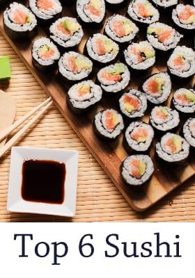 Beste Top 6 Sushi Restaurants van Amsterdam