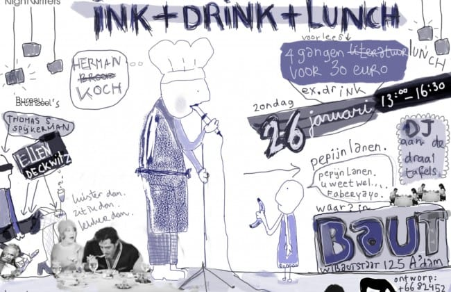 luncheditie van Ink + Drink + Lunch van Nightwriters en BAUT