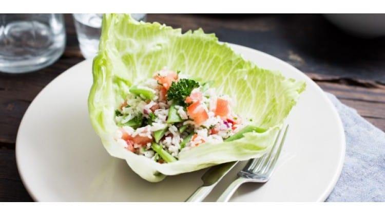 IJsbergcup met rijstsalade & snijbonen