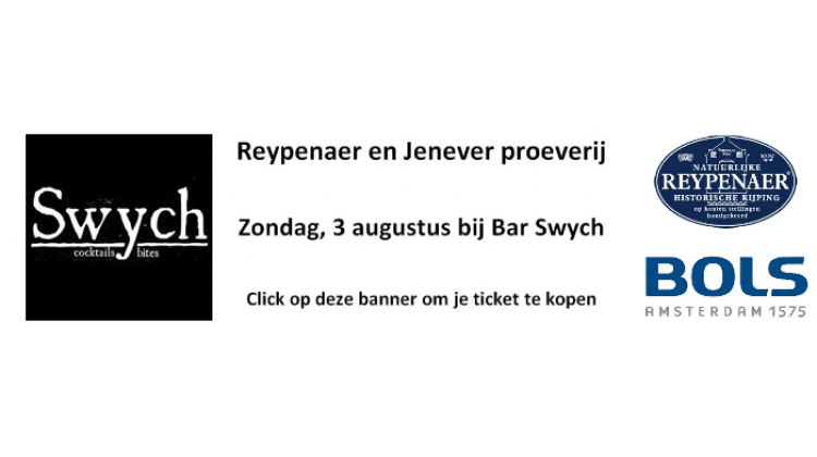 Banner Swych proeverij - Reypenaer Bols Jenever Amsterdam Event