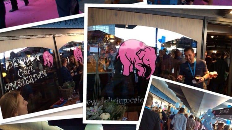 Opening café Delirium Amsterdam