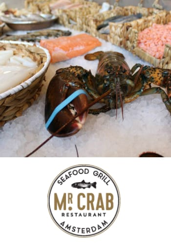 Mr. Crab, seafood grill, centrum Amsterdam