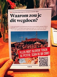 Restaurant Pllek Amsterdam Noord TT Neveritaweg petitie