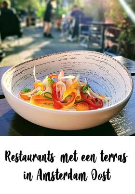 Restaurant met terras in Amsterdam Oost cover