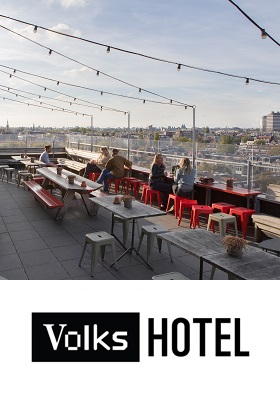 Staycation Amsterdam Volkshotel Canvas Restaurant Amsterdam Oost Wibautstraat cover