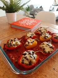 Kookboek Slow Louise Franc gevulde Poblanos