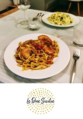 Le Due Sicilie Italiaans restaurant Amsterdam Oost President Steynstraat cover