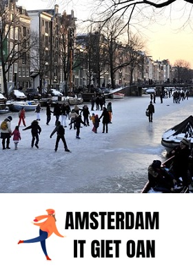 Amsterdams grachten schaatsdiner it giet on