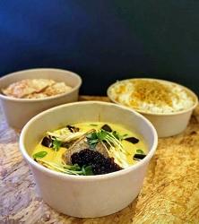 Curious Curry Pop-Up Taiko Restaurant Amsterdam Zuid eten bestellen zeebaars curry