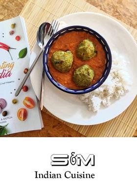 Recept Indiase Curry met vegetarische balletjes Indian Cooking Classes c