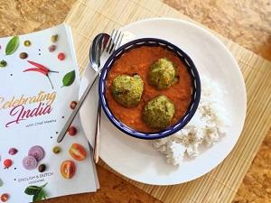 Recept Indiase Curry met vegetarische balletjes Indian Cooking Classes