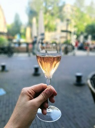 Champagne Deutz wijnbar boelen Amsterdam de Pijp Brut Rosé